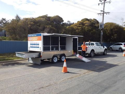 Community Recycling Trailer Setup on Roadside.jpg